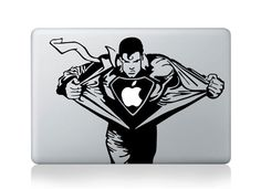 Superman -- Mac Decal Macbook Stickers Macbook Decals Apple Decal Macbook Pro Sticker Macbook Air iPad Decals. $7.88, via Etsy.