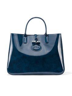 Longchamp patent-leather bag