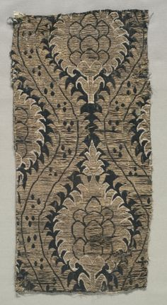 Ottoman. Textile Fragment.  Late 16th Century.  (Cleveland Museum of Art)