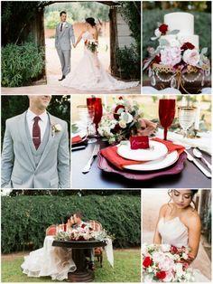 Crimson Velvet And Brushed Gold | Valentine's Day Inspired - Inspired Bride