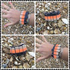 Polymer, clay, bracelet, sunset, fimo neon, cernit Stretch Bracelets, Polymer Clay, Neon, Sunset, Jewelry, Fimo, Jewlery, Jewerly, Schmuck