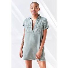 ebb6ff5061 Black Bdg Military Shirt Dress Collared Shirt Dress