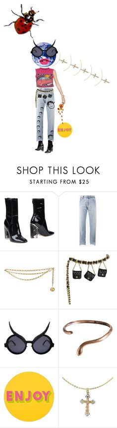 """""""watch what you say to me"""" by violentdelights1971 ❤ liked on Polyvore featuring Christian Dior, Vetements, Chanel, Madina Visconti di Modrone, Lisa Perry and Cross"""