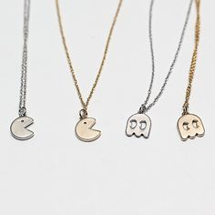 Pacman Ghost Necklace