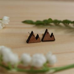A personal favorite from my Etsy shop https://www.etsy.com/ca/listing/258124432/mountain-earrings-wood-mountain-peak