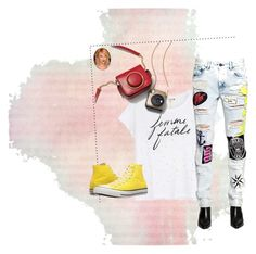 """""""Femme Fatale"""" by lula-kruta ❤ liked on Polyvore featuring Sundry, Filles à papa and Converse"""