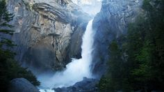 Awesome Yosemite Waterfall Nature Photo Picture For PC Desktop