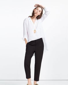 Image 4 of ASYMMETRIC CROSSOVER BLOUSE from Zara