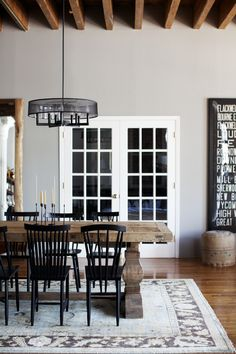 Dining area - love the table...