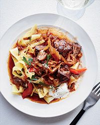 Overnight marinating and slow cooking give this goulash deeply savory, complex flavors. Philadelphia chef Jeremy Nolen reserves half of the vegetables to add at the end of cooking, which gives the stew surprising freshness.  Slideshow: Pork Soups and Stews