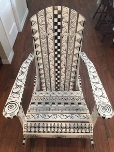 Tickled To Tangle: To Tangle an Adirondack Chair...