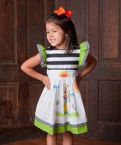 Another great find on #zulily! Binx Kids Stone & Green Fairy A-Line Dress - Toddler & Girls by Binx Kids #zulilyfinds