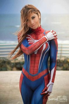 Melody Cosplay as Spiderman