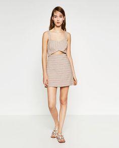 Image 1 of JACQUARD JUMPSUIT DRESS from Zara