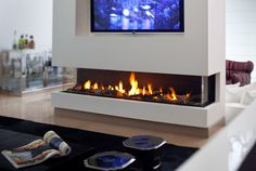 a long gas fireplace | Convenient Gas Fireplaces