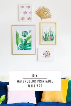 Check www.prettyhome.org - DIY Watercolor Print