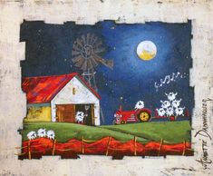Annette Dannhauser - Merry Tunes x Art Gallery, Artist, Projects, Paintings, Inspiration, Kitchen, House, Scrappy Quilts, Pictures