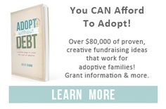 The list of adoption grant organizations is constantly in flux so this list may not be 100 percent accurate. Sometimes organizations shut down completely. Sometimes they aren't accepting applications because they have no funds.  The main grants that I point people to are:      Both Hands Foundation     Gift of Adoption     Lifesong for Orphans     Show Hope     Reece's Rainbow Adoption Ministry