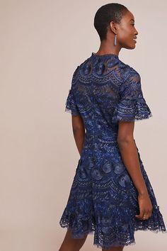 Slide View: 3: Shoshanna Blanche Embroidered Dress Anthropologie, Cold Shoulder Dress, Dance, Shopping, Dresses, Fashion, Dancing, Vestidos, Moda