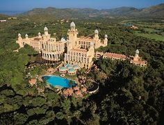 Sun City South Africa.  We had sooo much fun here!  Love the lobby at the top hotel.