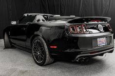 2014 Ford Mustang Shelby GT500 convertible black on black