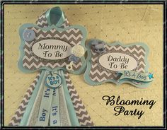 Items similar to Set of Blue and Gray Mommy To Be Badge and Daddy To Be Badge Blue and Silver Baby Shower Badge Baby Boy Shower Corsage on Etsy Baby Shower Notes, Baby Shower Badge, Book Shower, Baby Boy Shower, Gray Chevron, Corsage, Blue And Silver, Babyshower, Shower Ideas