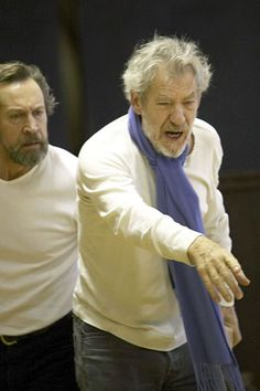 Ian Mckellen in rehearsal. King Lear w Royal Shakespeare Company. Performed Brooklyn Academy of Music. Incredible!