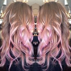Light Brown With Pink Lowlights