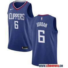 Men s Nike Los Angeles Clippers  6 DeAndre Jordan Blue Stitched NBA  Swingman Jersey 5db588265