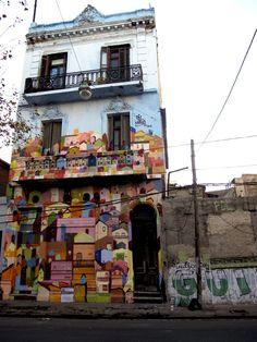 Mural by CORONA and MARIO in La Boca (Buenos Aires, Argentina).