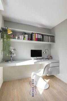 Small Home Office Ideas For Men & Women (Space Saving Layout) – adjective.uc… – Home office design layout Mesa Home Office, Home Office Setup, Home Office Space, Home Office Desks, Small Office, Office Ideas, Office Table, Office Furniture, Office Designs