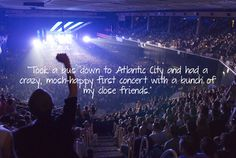 """""""Took a #bus down to #Atlantic #City and had a #crazy, mosh-happy #first #concert with a bunch of my close #friends."""" #quote #music #Blink182"""
