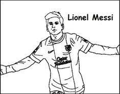 Soccer Is One Of The Most Famous And Important Sports Around The World Soccer Players Love The Teamwork And Competiti Lionel Messi Sports Coloring Pages Messi