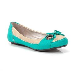 Turquoise Bow Flats.