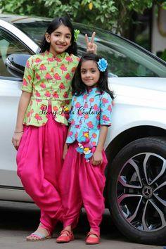 Kidsdress for mehendi Kids Dress Wear, Kids Gown, Dresses Kids Girl, Kids Outfits, Kids Indian Wear, Kids Ethnic Wear, Kids Frocks Design, Baby Frocks Designs, Baby Girl Fashion