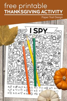 Print this fun I spy Thanksgiving kids activity page to help keep them busy while everyone is cooking Thanksgiving dinner. Thanksgiving Activities For Kids, Christmas Activities, Christmas Printables, First Birthday Parties, First Birthdays, Emoji Games, Paper Trail, School Signs, I Spy