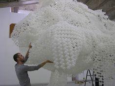 Loris Cecchini - Cloudless installation - Galleria Continua, Beijing, China 2006