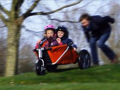 Coocarooc Breeze - racing it down the hill Kids Wagon, Wooden Cart, Baby Strollers, Innovation, Children, Breeze, Design, Racing, Products