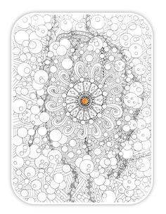 Adult Coloring Page Coloring Book Swirls by TodaysJourneyStudio