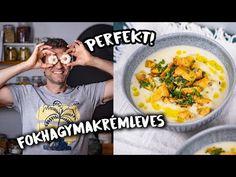 Háromféleképpen is felhasználtuk a fokhagymát, ettől igazán mély ízű lett a fokhagymakrémleves. A gremolata pedig csak fokozza az élményt. Cheeseburger Chowder, Feta, Food To Make, Dining, Kitchen, Recipes, Street, Youtube, Soups