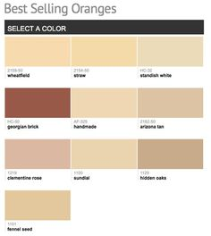Best selling & popular shades of orange paint colors from Benjamin Moore.