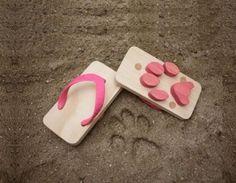 Footprint Japanese Wooden Sandals