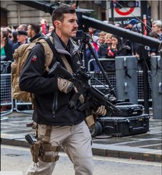 Royal Military Police, Close Protection Unit at the Lord's Mayor parade. November 2014.