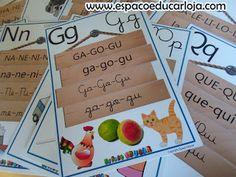 ESPAÇO EDUCAR: Conjunto Didático cartazes do alfabeto 4 tipos de letras com famílias silábicas impresso colorido 26 páginas tamanho A4 - adquira o seu!