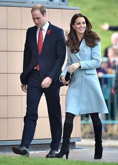The Duke and Duchess of Cambridge during a visit to the Valero Pembroke Refinery. November 8, 2014
