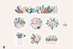 Flower Doodles, Summer Garden, Plates, Tableware, Floral, Flowers, Licence Plates, Dishes, Dinnerware