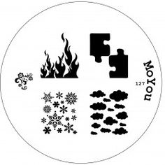 Image plate 127 - MoYou Nails - Nail Stamping Plates, Nail art kits, Nail Polish and Decorations