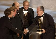 West Wing TV Show Cast | Rudy Giuliani presents the award for 'Outstanding Drama Series' to ...