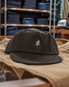 """e3e1caea0bf32 Fat Buddha Store on Instagram  """"Our Gramicci Japan collection Umpire 6  Panel Cap in Charcoal is available in store and online priced at £35.00!"""