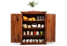 Buy Apex Kitchen Cabinet (Teak Finish) Online in India - Wooden Street Kitchen Cabinets Models, Wooden Kitchen Cabinets, Cupboards, Crockery Cabinet, Crockery Units, Wooden Street, Dining Area